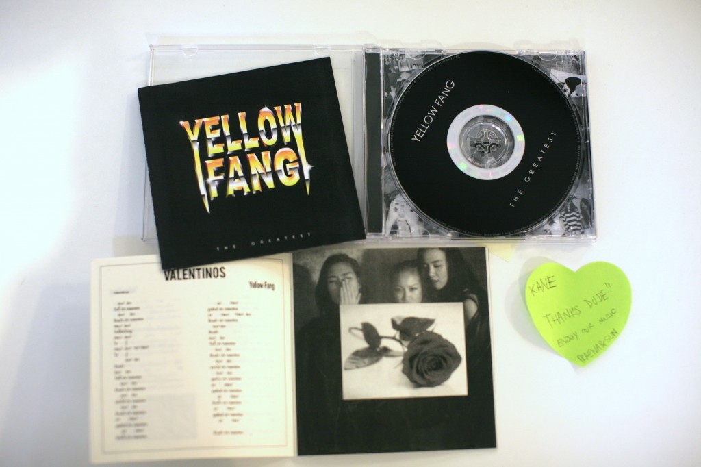 GEE, THANKS! Yellow Fang's debut LP, The Greatest, arriving in Contented's mailbox via Bangkok.