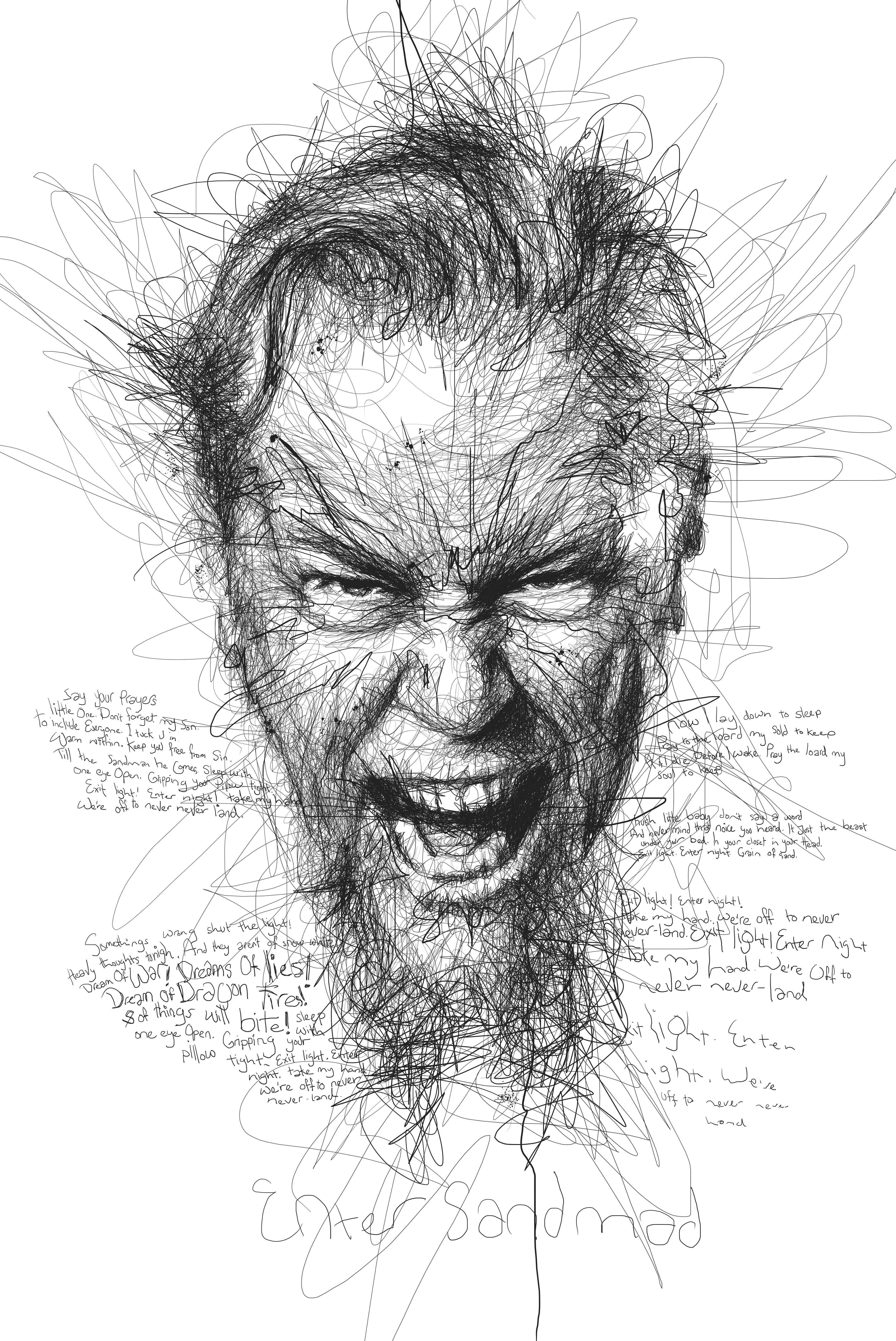 Line Drawing Portrait : Meet the man who turned doodling into an art form and a